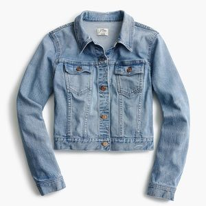 J Crew Cropped Denim Jacket in Cavanal wash